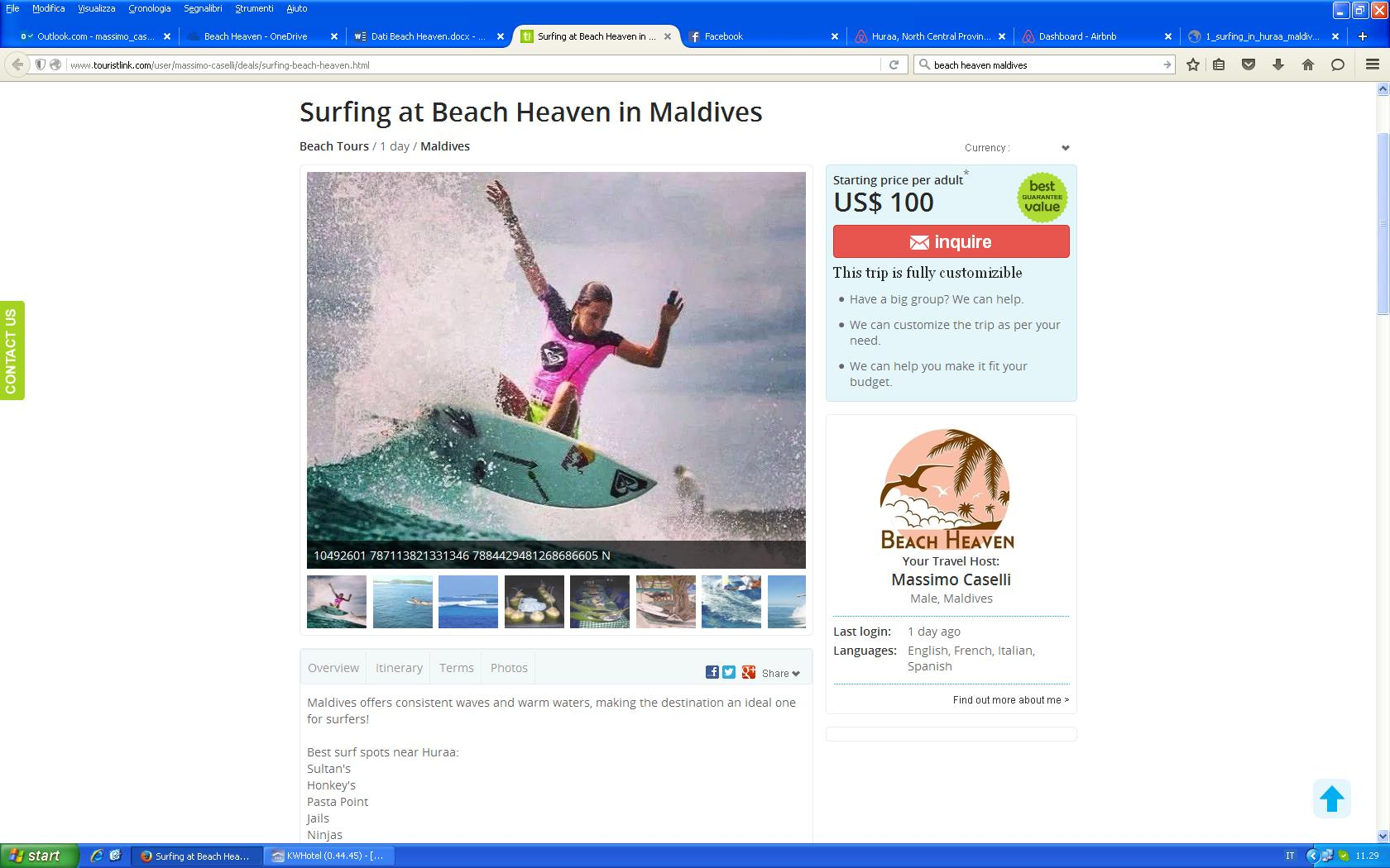 surfing offer beach heaven maldives huraa