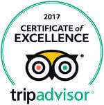 Attestation d'Excellence 2017 de TripAdvisor