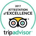 Attestation d'Excellence de TripAdvisor